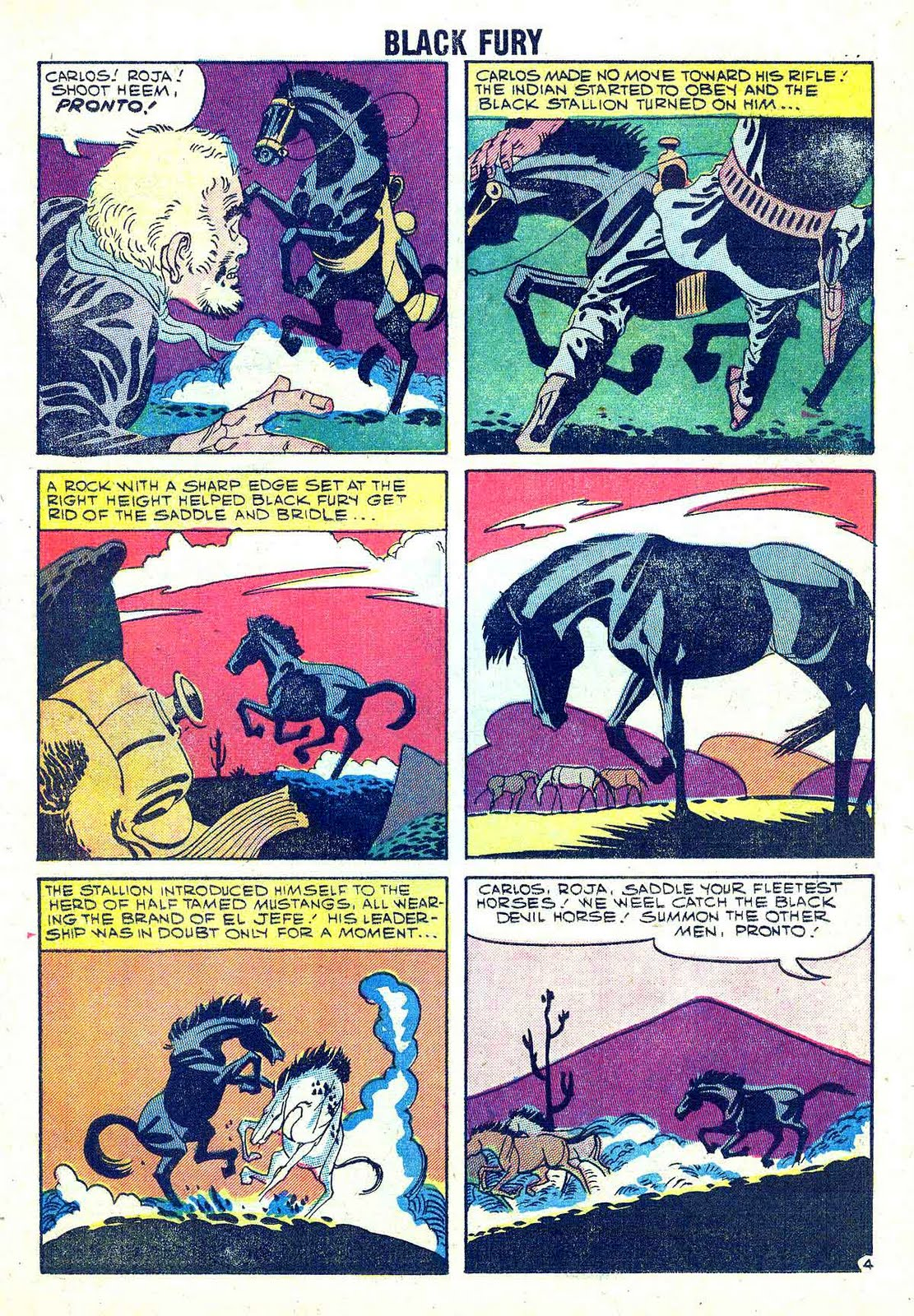 Black Fury v1 #18 charlton comic book page art by Steve Ditko
