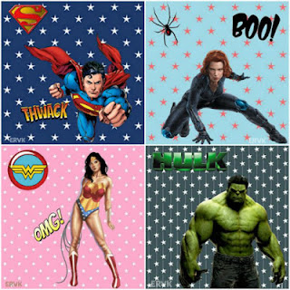 LAMINAS SUPER HEROES COLLAGE