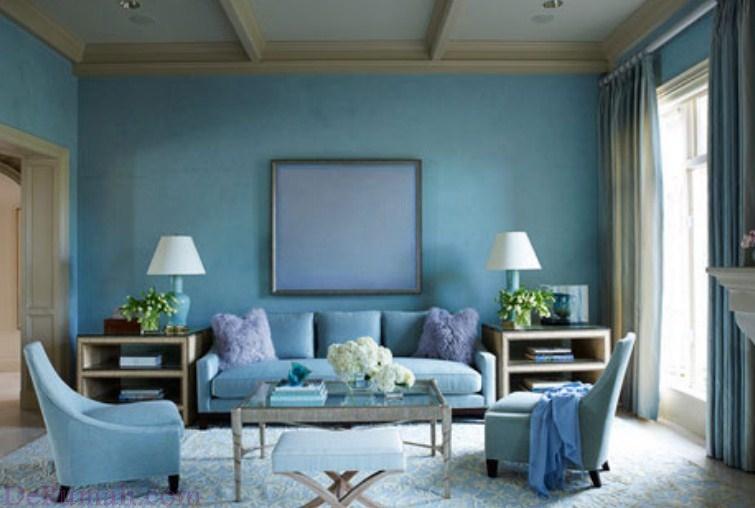 50 Desain Ruang Tamu Warna Biru Yang Nyaman