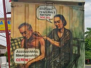 Tulisan Truk Kreatif di Indonesia
