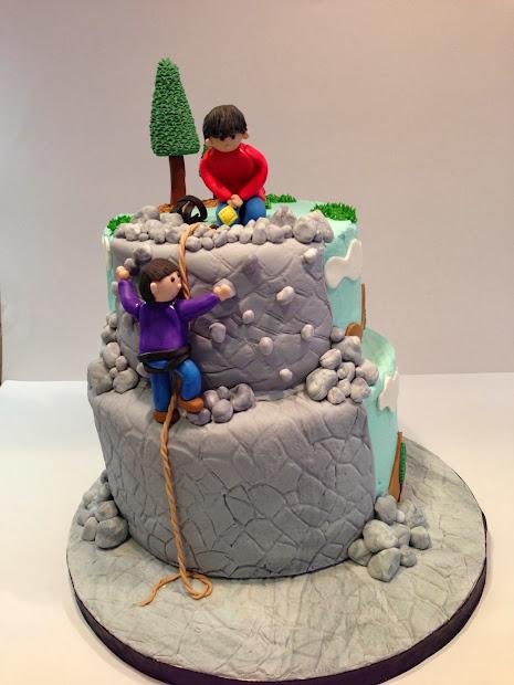 Julie' Custom Confections Rock Climbing Cake