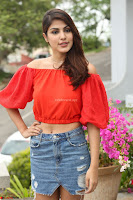 Rhea Chakraborty in Red Crop Top and Denim Shorts Spicy Pics ~  Exclusive 059.JPG