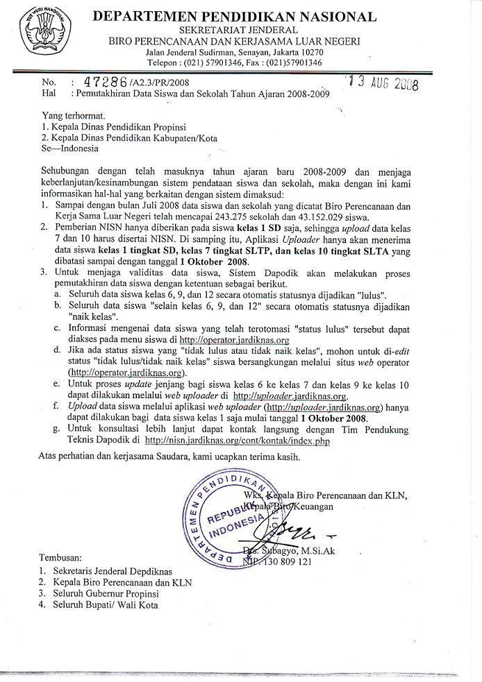 Surat Resmi & Seluk Beluknya: Contoh Surat Resmi Bagian II