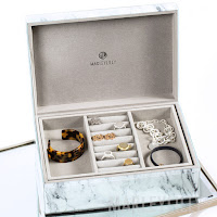 marble jewelry organizing box