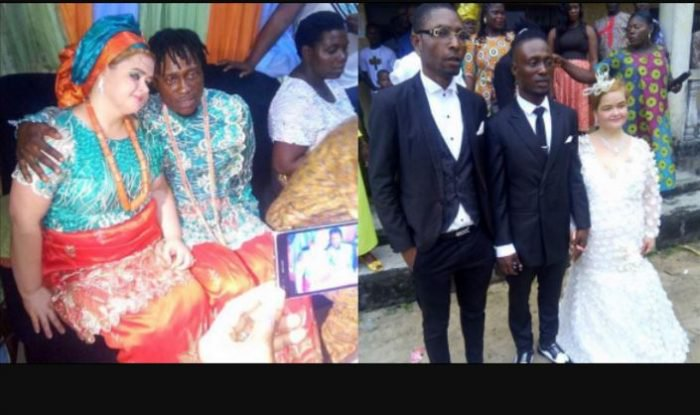 Photos From The Wedding Of Nigeria Singer His Short Oyinbo Wife Held Yesterday