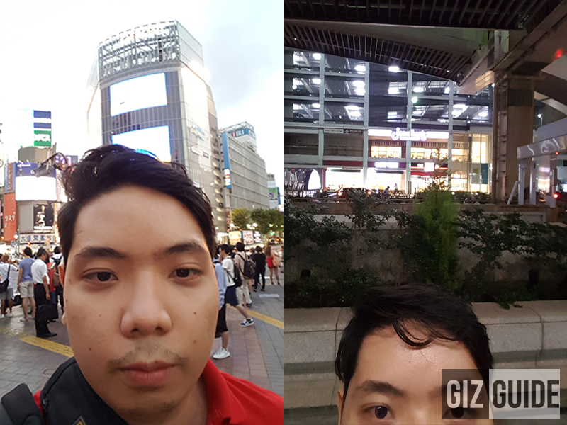 Selfie daylight and night