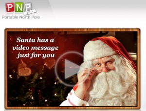 personalised free message from santa portable north pole