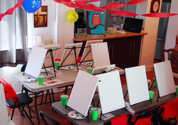 Minion Parties and #KinderSmiles - Painting Party