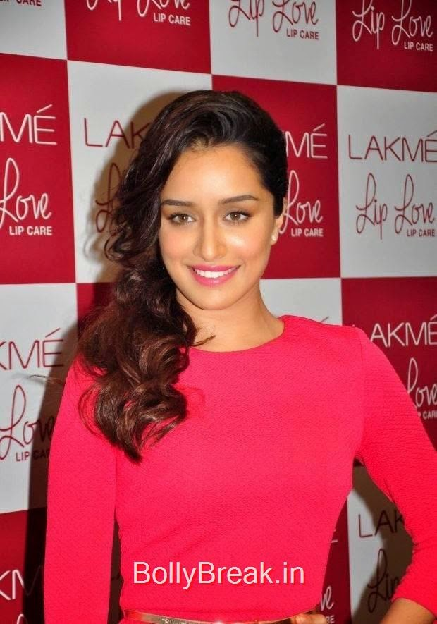 Hindi Actress Shraddha Kapoor, Hot Pics Of Shraddha Kapoor in red dress from LAKME Event