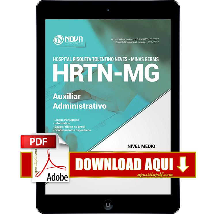 Apostila HRTN 2017 PDF Download Auxiliar Administrativo