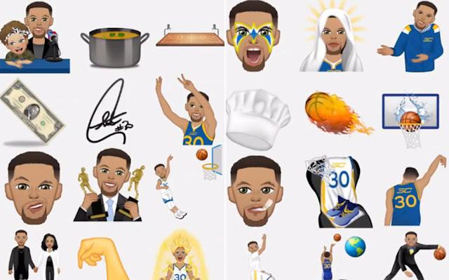 Curry revoluciona las redes con sus propios emojis