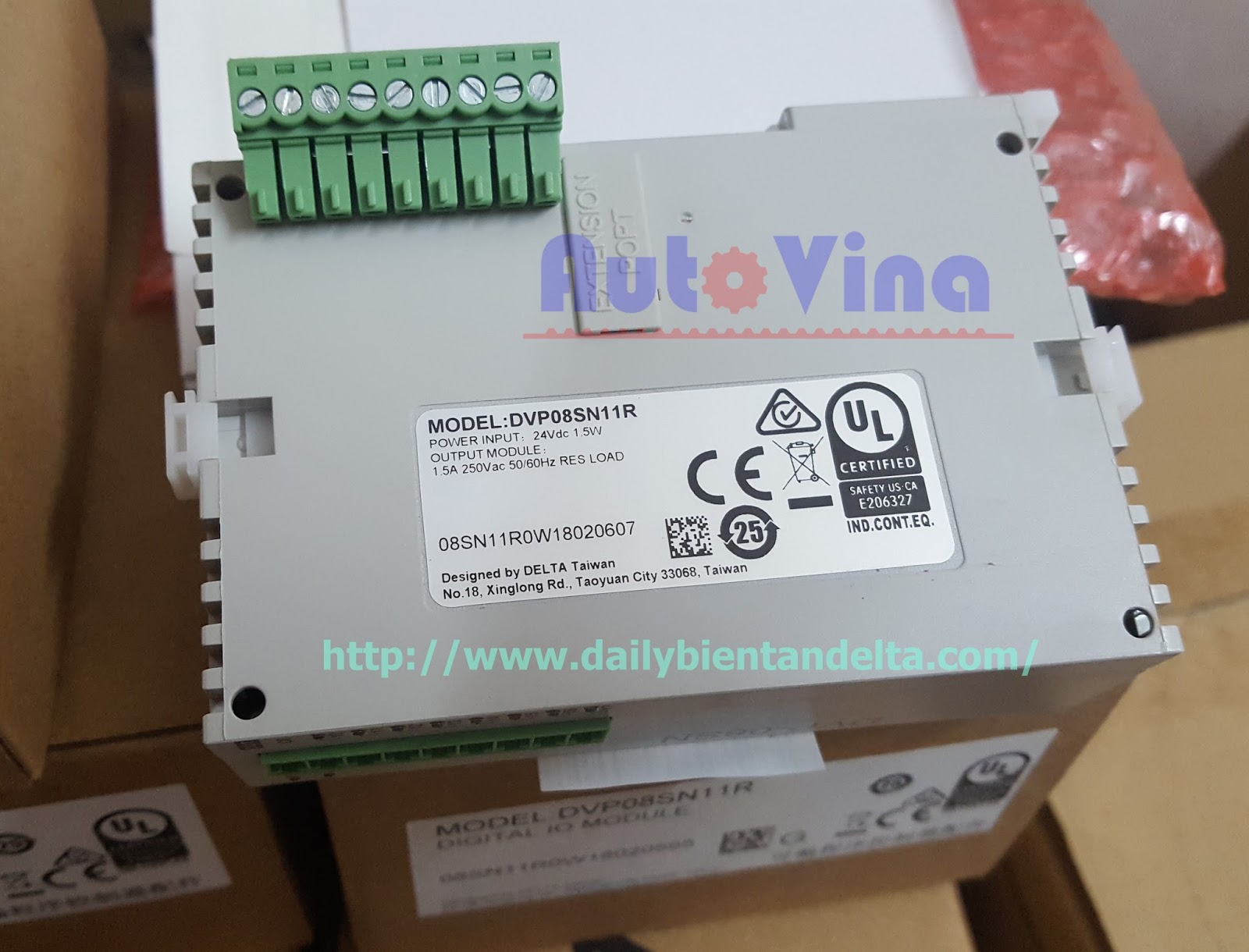 Module relay output PLC Delta DVP08SN11R mở rộng 8 ngõ ra rơ le cho PLC Delta