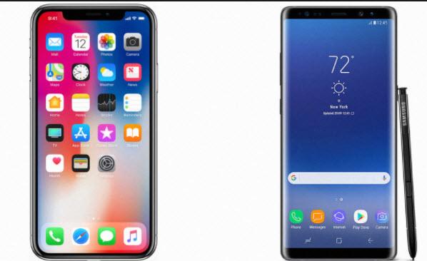 سامسونغ تامل بالتأثير على مشتريين iPhoneX في كوريا الجنوبية من خلال تقديم القروض للحصول على Galaxy S8 او Note8