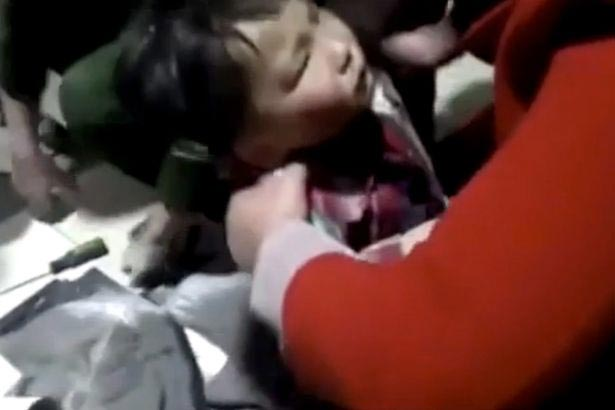 5-year-old boy gets his head stuck inside pipe