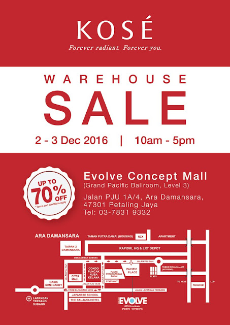 Kose warehouse sale 2016 @ Evolve Concept Mall