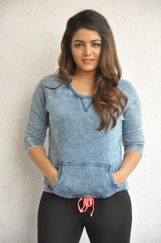 Glamours Tollywood Actress Wamiqa Gabbi Hot Photos In Blue Top Black Jeans