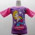 Frozen Elsa 1 - Kaos Raglan Anak Karakter Frozen Elsa 1 Ungu Muda (KAK-FRO-01)