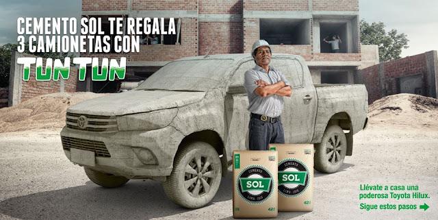 [Sorteo] Gana un camioneta Toyota Hilux y vales de consumo en comida - Gana con Cemento Sol