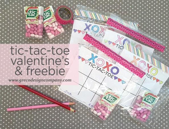 tic tac toe valentine printable