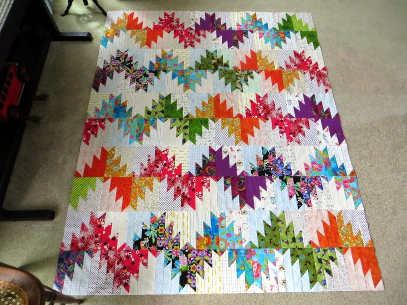 The Way I Sew It Scrappy Mountain Majesties Quilt Top