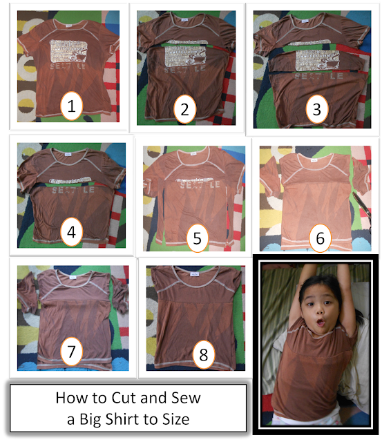 How to cut and sew a big shirt to a smaller size