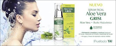 Muestras gratis del serum facial con aloe vera y acido hialurónico Grisil