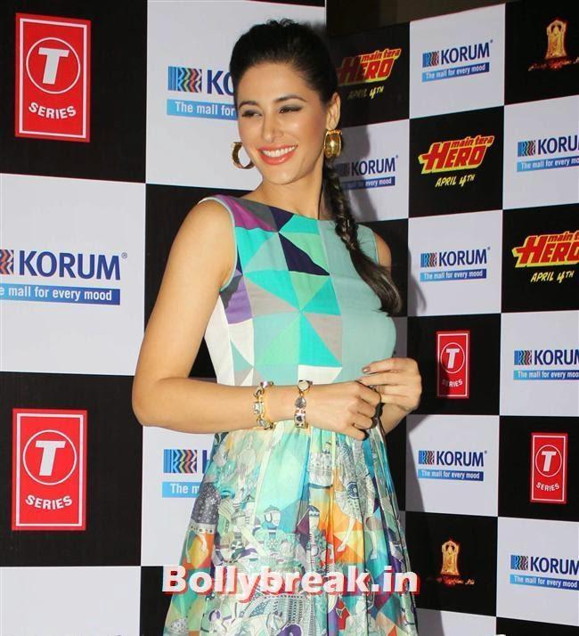 Promotion of film 'Main Tera Hero' at korum mall thane, Hot Nargis Fakhri & Ileana Promote Movie Main Tera Hero Movie