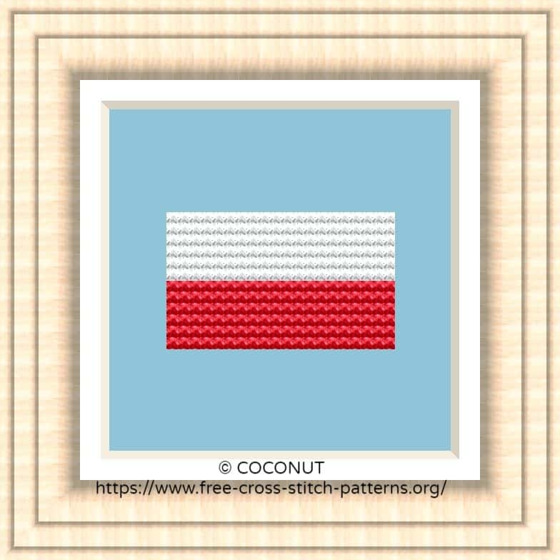 NATIONAL FLAG OF POLAND CROSS STITCH CHART