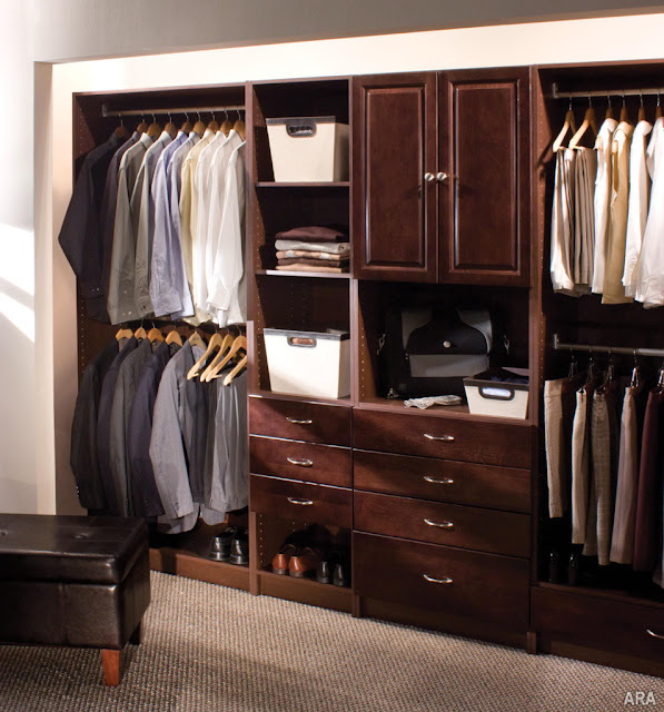 small wood closet systems