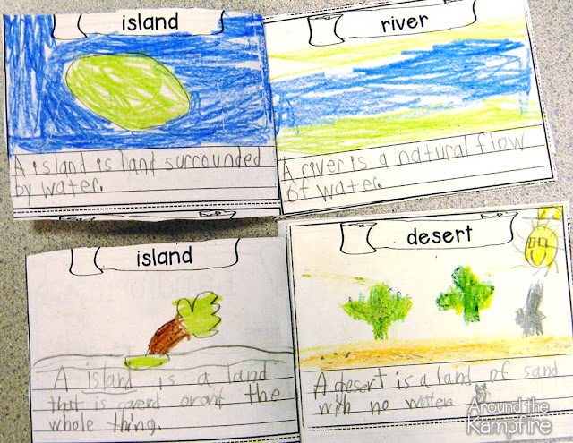 Landforms vocabulary booklets