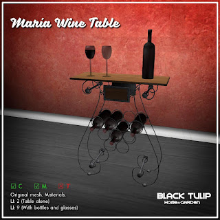 [Black Tulip] HG - Maria Wine Table