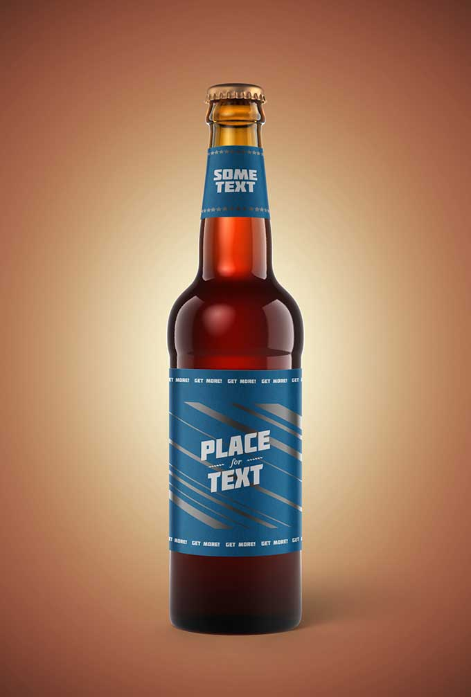 Beer Bottle PSD Mockup