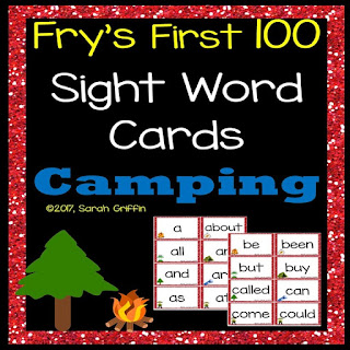 https://www.teacherspayteachers.com/Product/Fry-First-100-Sight-Words-Camping-Theme-3116954