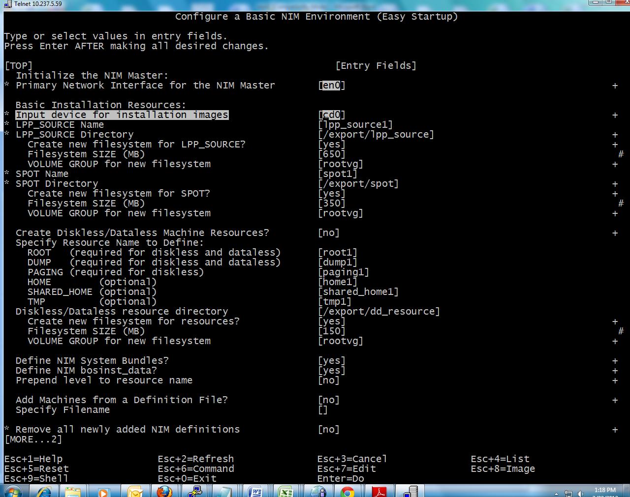 NIM Configuration | AIX BLOG