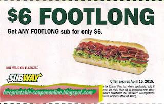 Subway Coupons Promo Codes