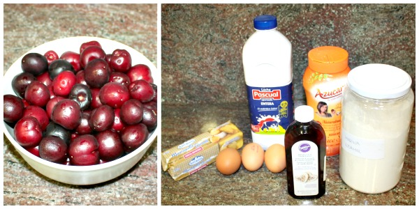 Ingredientes clafoutis de cerezas