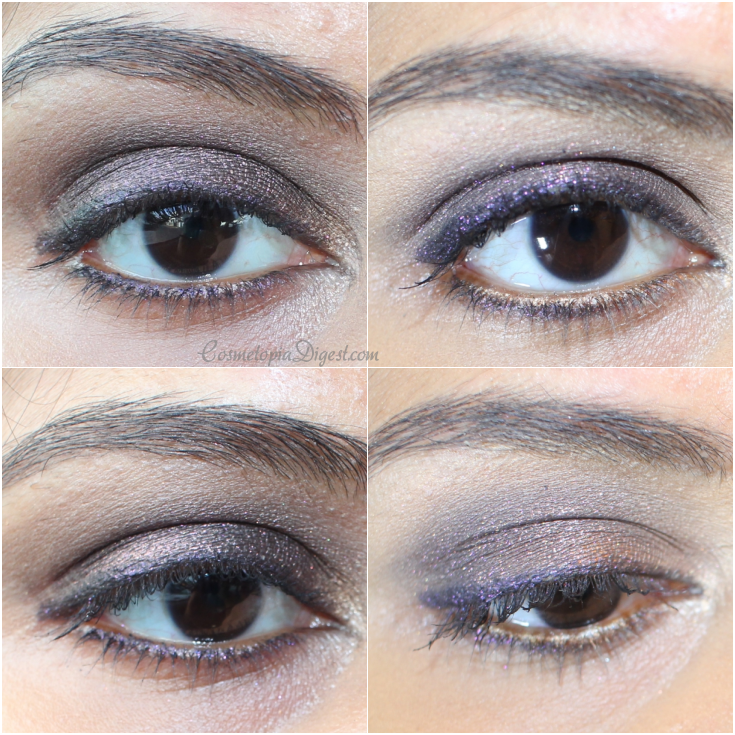 Review, swatches and eye makeup looks using Charlotte Tilbury Nocturnal Cat Eyes To Hypnotise On The Prowl eyeshadow and Supernova Rock N Kohl.