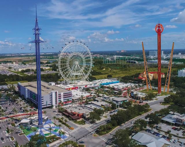 orlando icon park slingshot gyro drop tower
