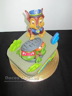 bolo patrulha pata tartarugas ninja bragança