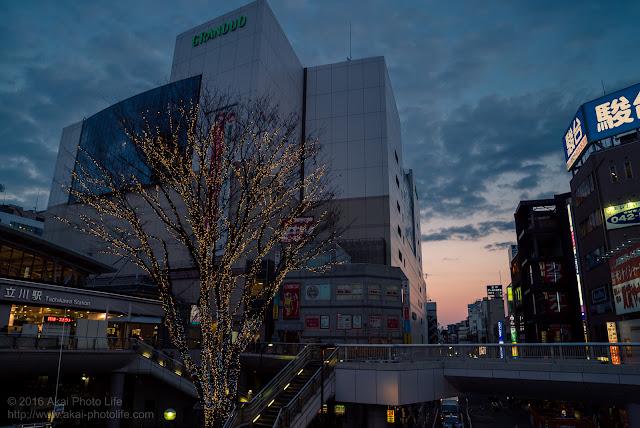 立川駅南口のイルミネーション