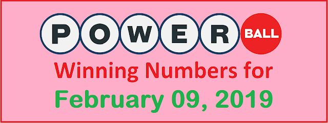 PowerBall Winning Numbers for Saturday, 09 February 2019