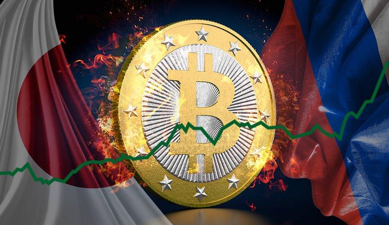 Giá Bitcoin đạt đỉnh điểm mới nhất từ triển vọng tại Nga và Nhật Bản