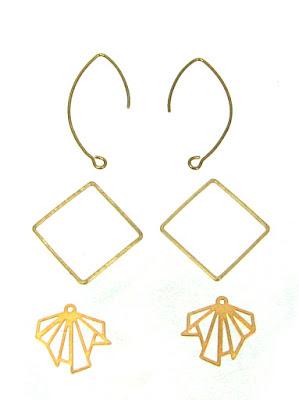 Matériel kit boucles d'oreilles géométriques