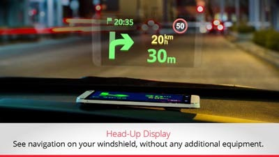 head up display sygic