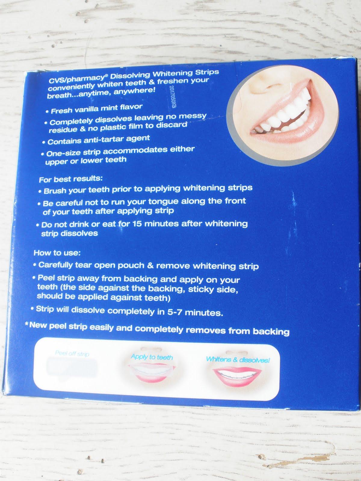 Cosmeticsbycaroline Review Cvs Dissolving Whitening Strips