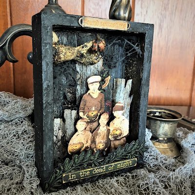 Sara Emily Barker https://sarascloset1.blogspot.com/2018/10/found-curiosities-vignette.html Found Curiosities Vignette Tim Holtz Ideaology Sizzix Alterations 19
