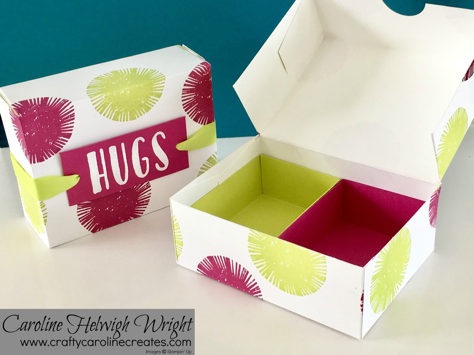 Craftycarolinecreates Lovely Inside And Out Partitioned Gift Box