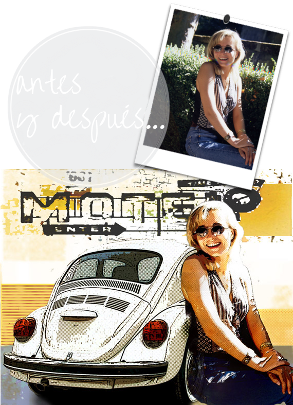 ideas para retocar fotos, posters estilo pop art