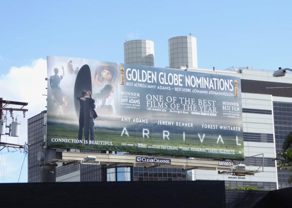 Arrival awards consideration billboard