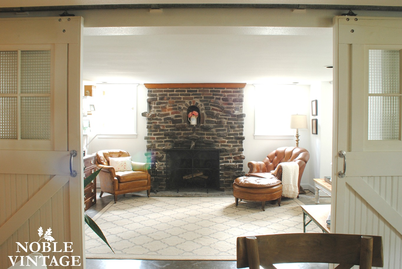 Uncategorized Rustic Family Rooms cottage rustic family room some updates noble vintage i love the leather chairs in here